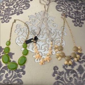 Jewel stone necklaces Lot of 3